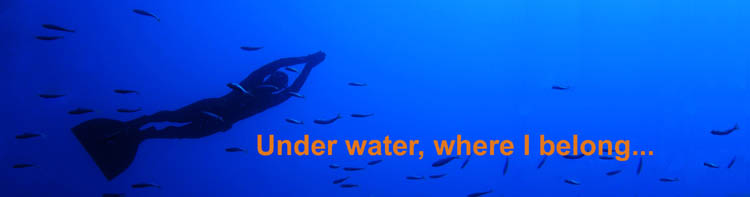 Under water, where I belong