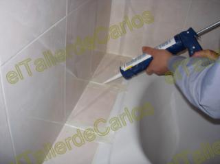 Eltallerdecarlos aplicar silicona en ba o juntas de - Como quitar la silicona del bano ...