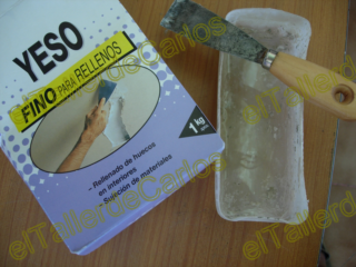 eltallerdecarlos: masilla para arreglar desperfectos en el techo