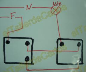 Eltallerdecarlos interruptores conmutados de la luz c mo for Como instalar un enchufe