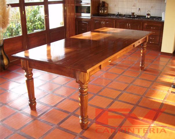 Fv carpinter a mesas for Mesas esquineras de madera