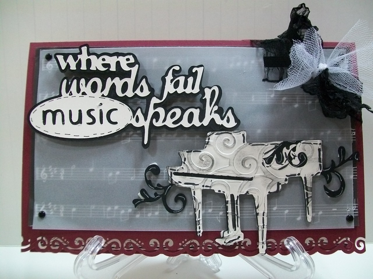 Scrapbook ideas using cricut - This Cartridge Is Perfect For Music Lovers And Will Make Some Beautiful Scrapbook Pages And Or Cards For That Special Person In Your Life