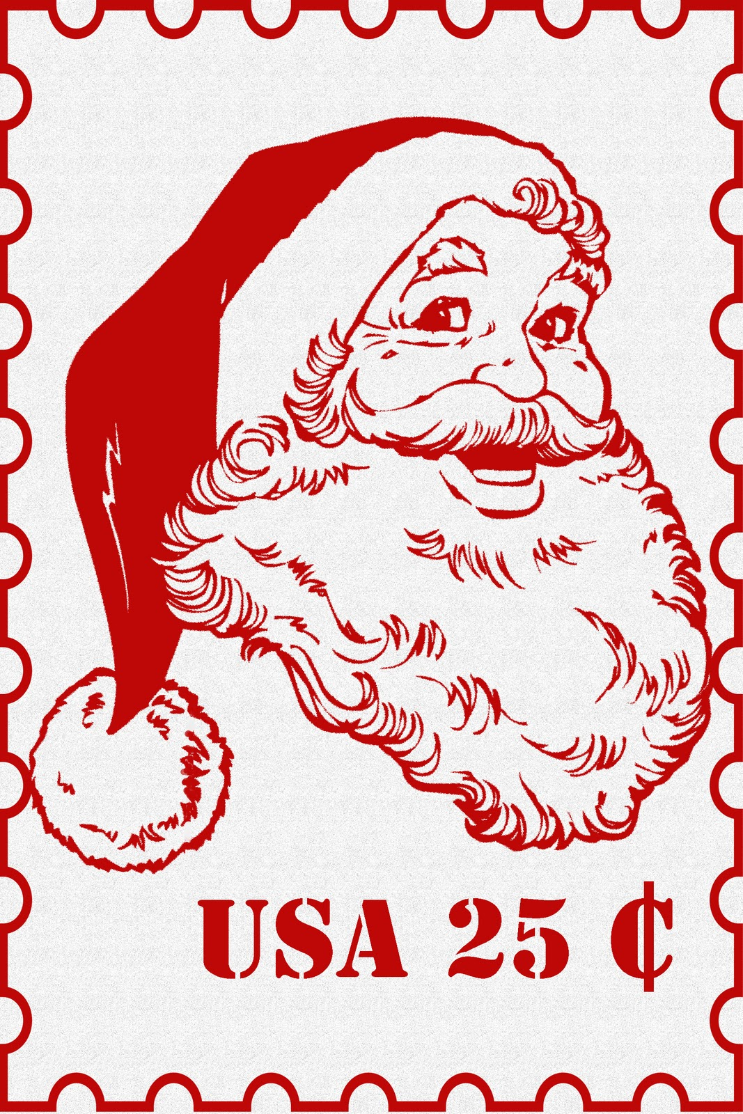 graphic about Stamp Printable named Basic Frugal Dwelling: Key Santa Postage Stamp Printable
