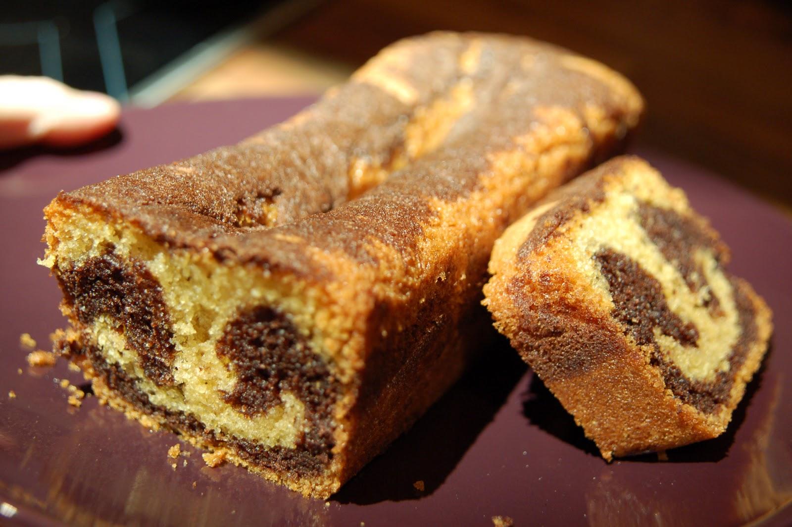 Croque en bouche le quatre quarts marbr vanille chocolat - Recette quatre quart marbre ...
