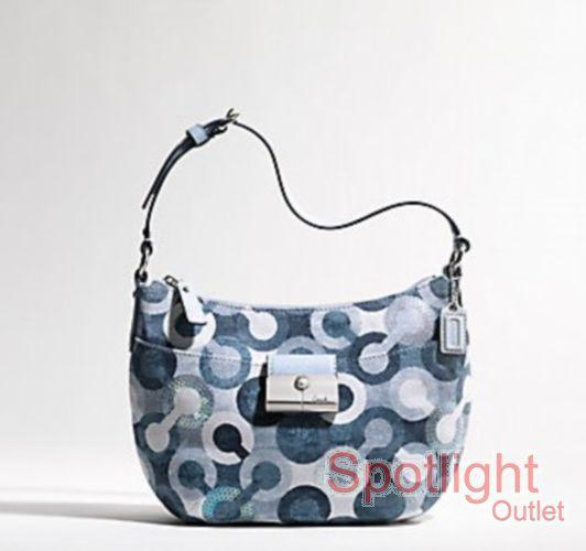 ITEM 91:COACH NWT KRISTIN OP ART POUCH HANDBAG PURSE 43918