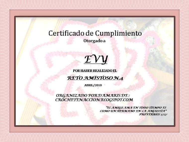 Certificado Reto Amistoso Nº 4