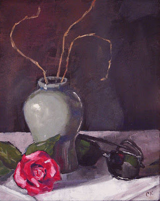 Connie Kleinjans painting: Still Life with Shades