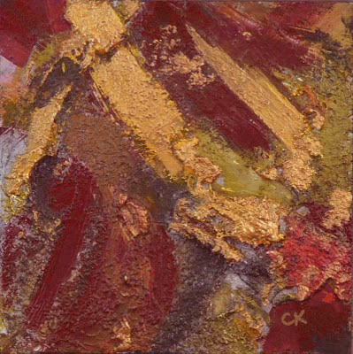 Connie Kleinjans fine art, Mother Lode, 8x8 acrylic and mixed media on board