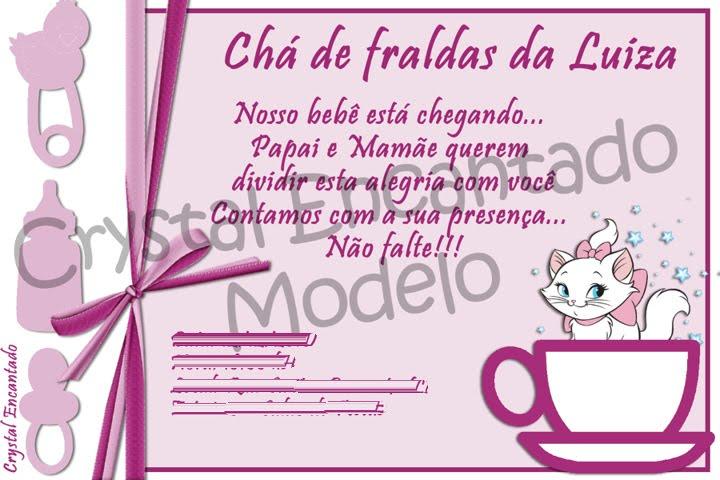 Crystal Encantado Chá De Fraldas Da Luiza