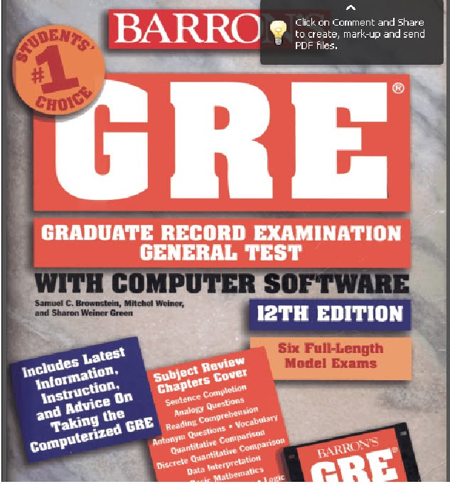 "0 Responses to ""GRE BARRONS 12TH EDITION"""