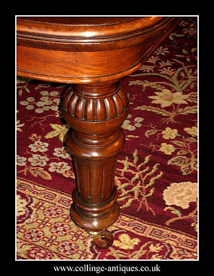 antique oak dining table leg