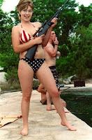 Jessica Simpson In American Flag Bikini On Gq Magazine Cover And