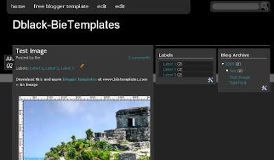 black blogger template