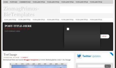 zinmag primus blogger template