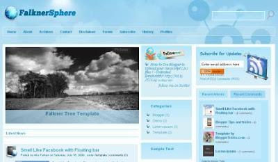 Falkner Sphere Blogger Template