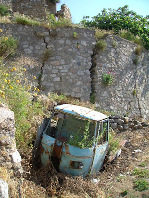 rusty old ape, calabria, southern italy