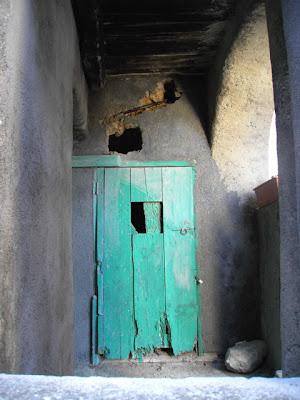 Badolato door, Calabria, Italy
