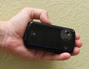 Hold the HTC 3600 phone with left hand to open it