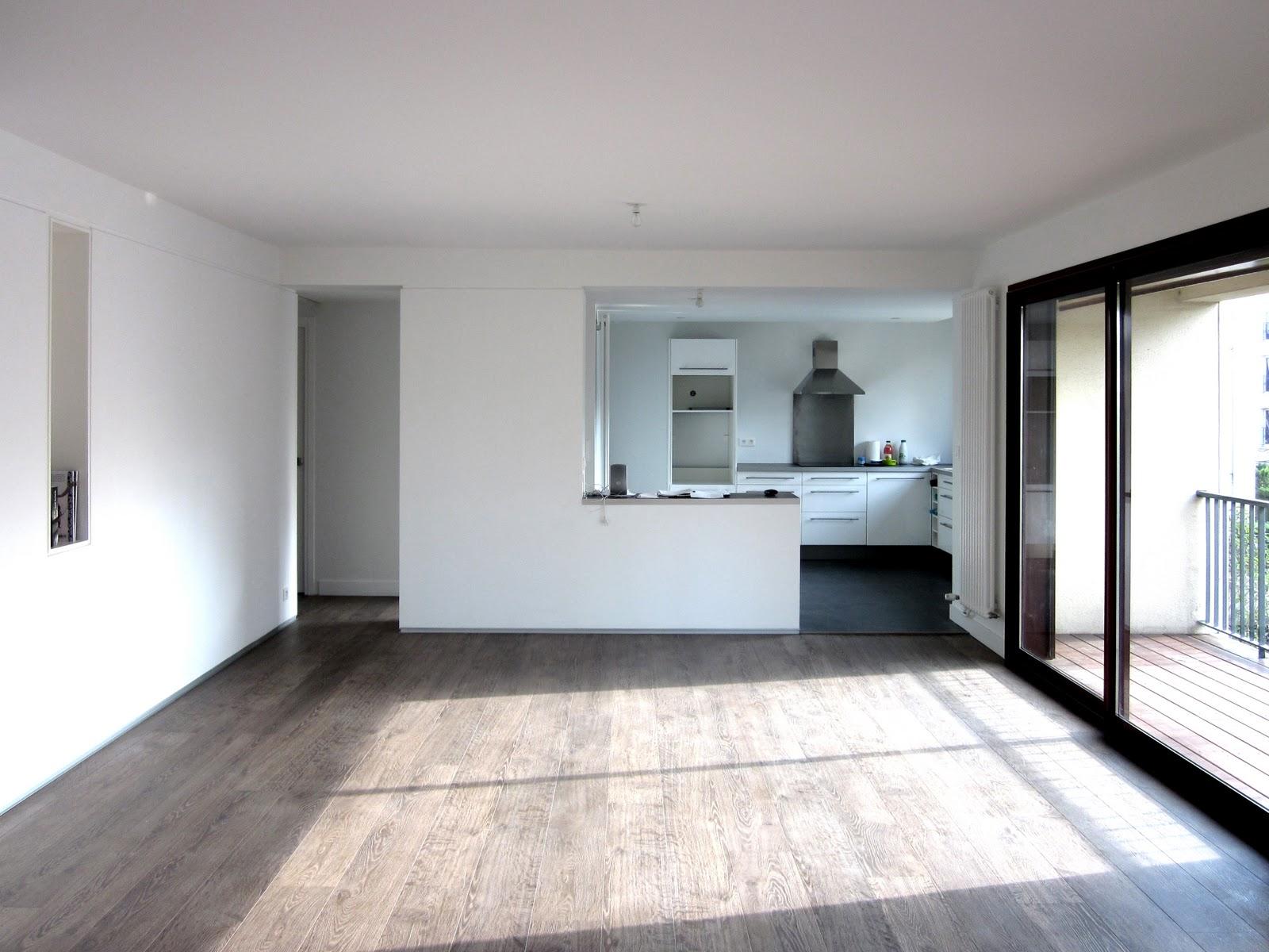 Peinture Blanche Salon dedans rénovation d'un appartement à bordeaux