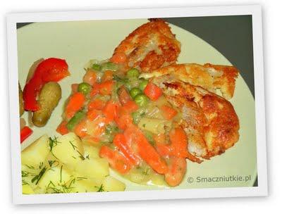 Mintaj w sosie warzywno-maślanym