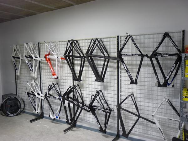 stockage de cadres velo carbone aero tech