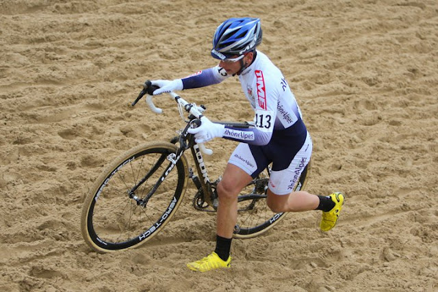 cyclocross dans le sable