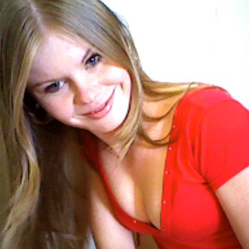 image Awkward teen katerina makes faces as she shows off