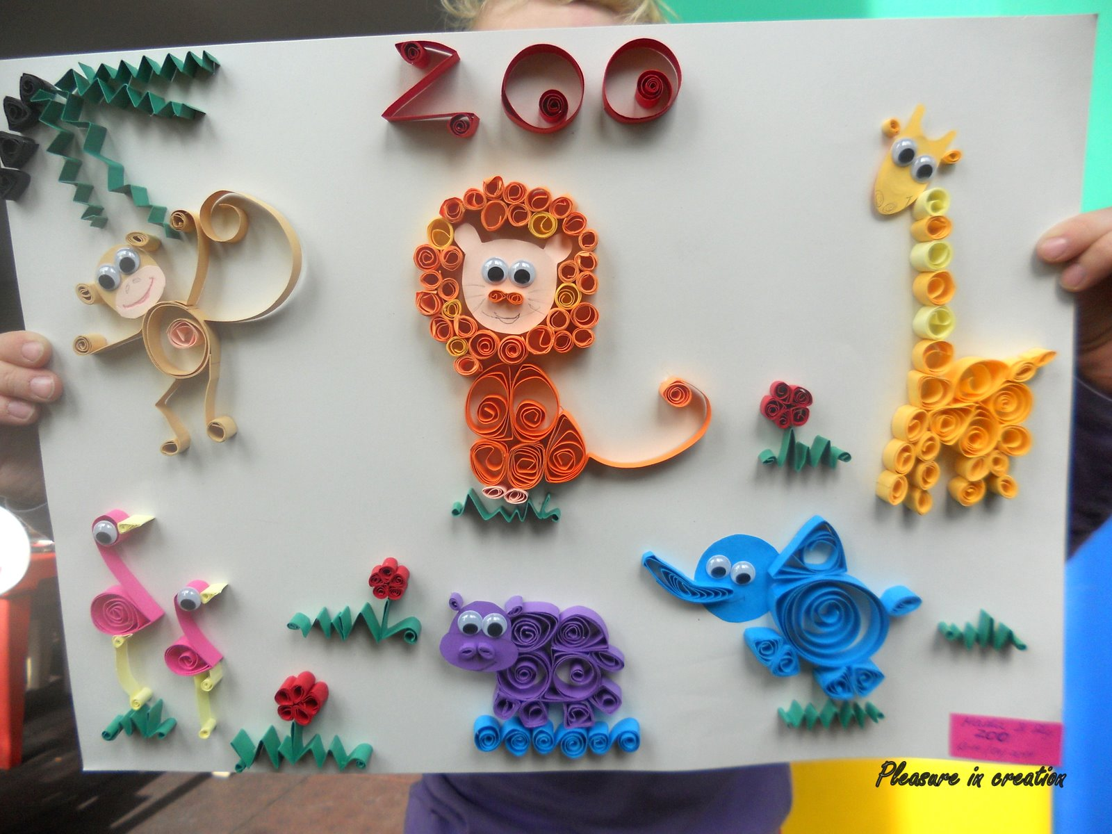 Pleasure in creation quilled zoo for Paper quilling paper