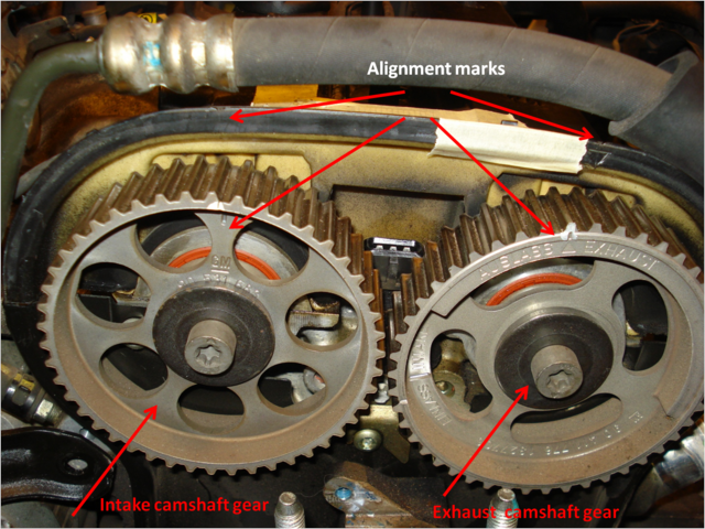 06 Suzuki Forenza Timing Belt http://bezalelsapprentice.blogspot.com/2010/07/replacing-head-gasket-on-2004-suzuki.html