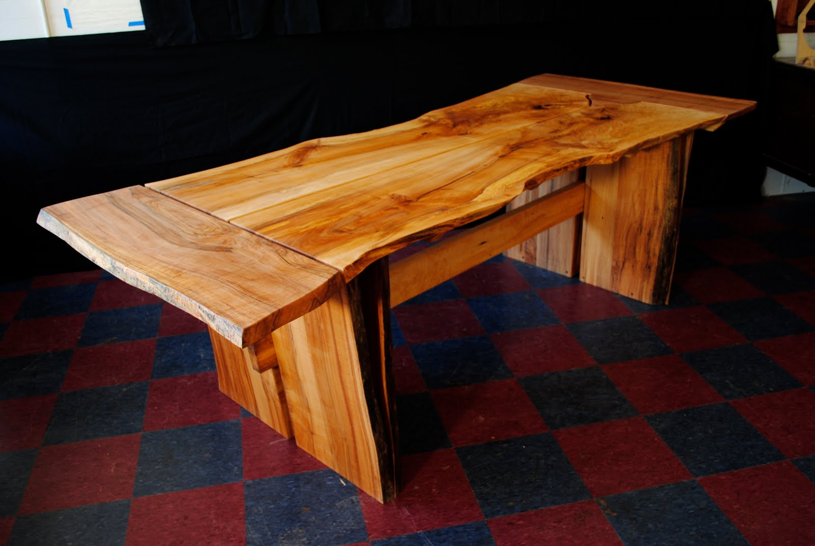 Attractive Norway Maple Live Edge Dining Table