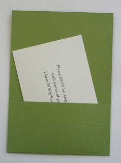 Cozy Green Wedding Invitations With White RSVP