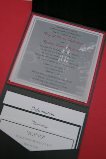Black Red Grey Wedding Invitations Cards Design