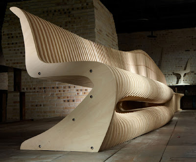 Noiz Architecture, Design U0026 Planning Created This Custom Furniture  Installation Within A Cultural Salon For Taiwan Land Corporation. The Laser  Cut Plywood ...