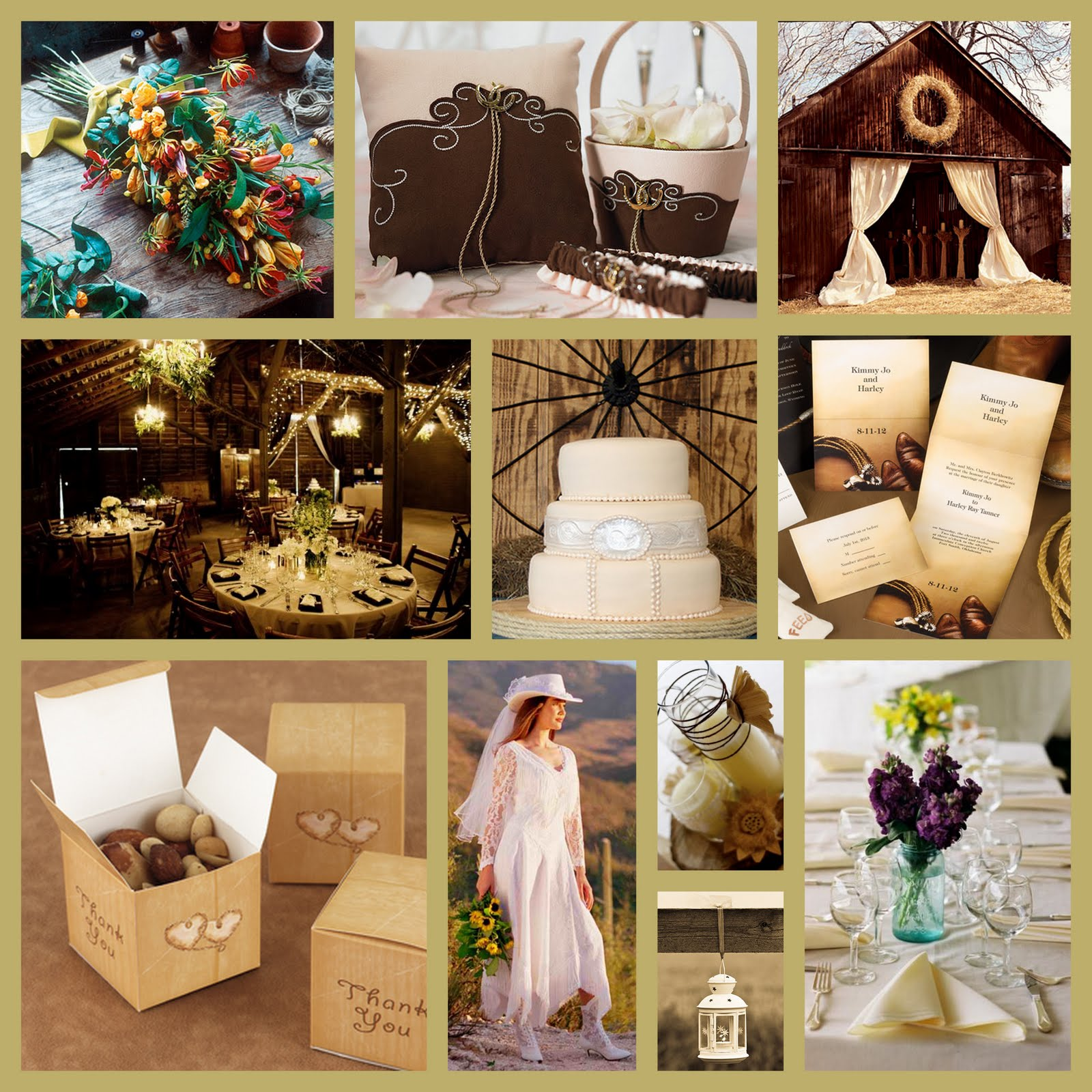 Premier bride magazine texas wedding theme western for Country wedding reception decorations