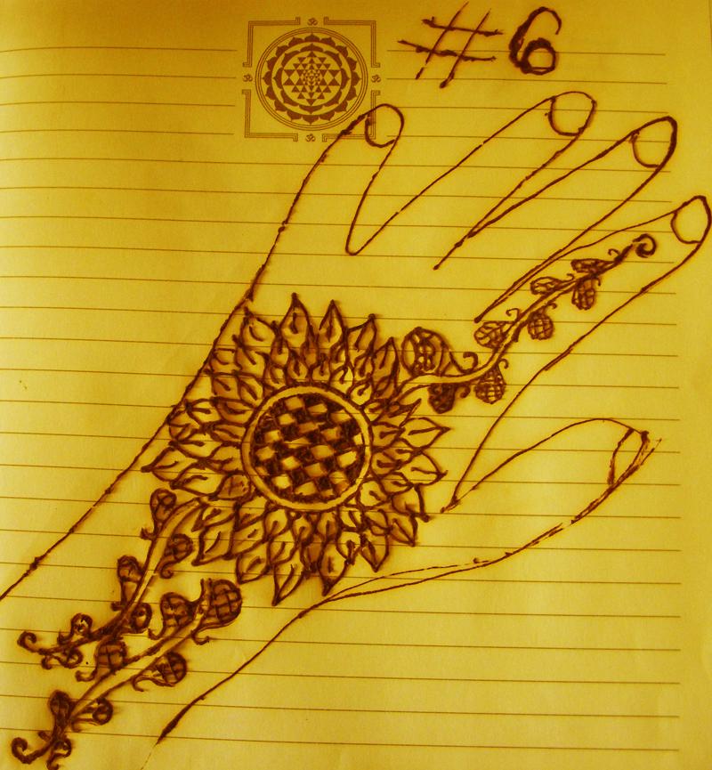 Henna Sunflower Design Easy Beautiful Designer Sunflower Inspired
