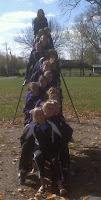 Team bonding on the playground