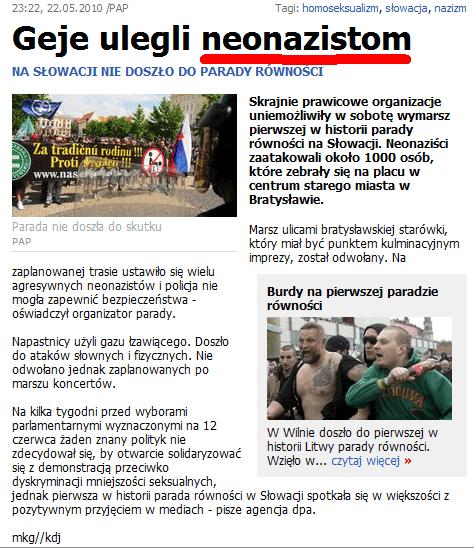 Geje ulegli neonazistom