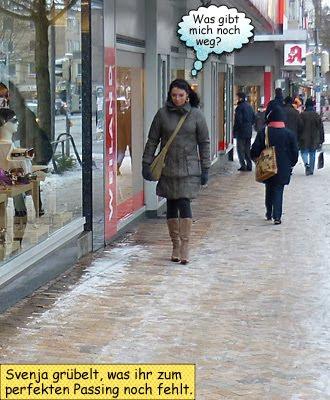 Svenja Kiel Holtenauer Straße Einkaufsbummel Schneetreiben