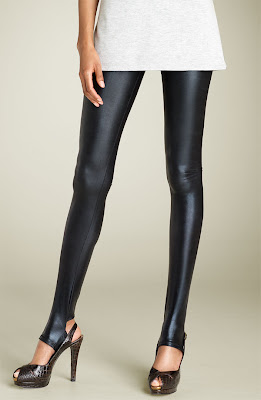 ... clients that it would be awesome to wear pleather leggings to their