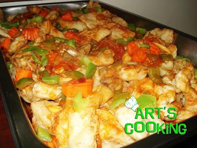 fish fillet in sweet source sauce