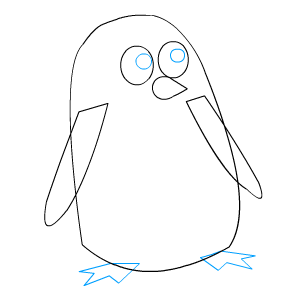 Penguin Feet Template