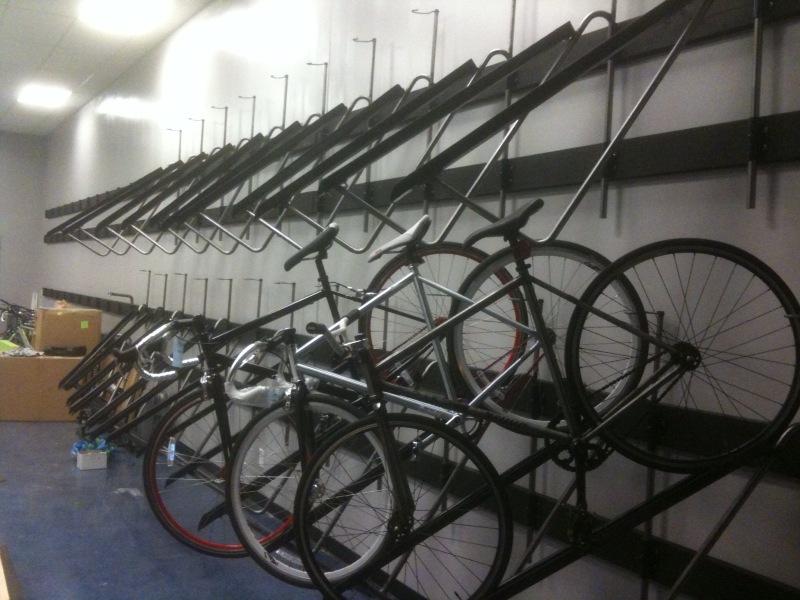 Monkey Likes Shiny Cranky S Bike Shop Bicycle Racks Done