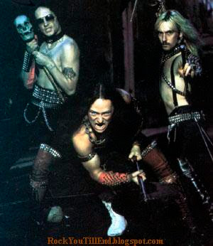 The guys from Venom being metal