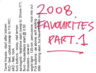 2008 favourites - part 1