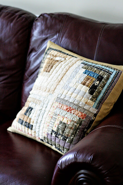 rustic charm cutter quilt pillow