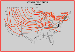 Frost Depth Map