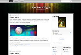 Night Spectrum Blogger Templates