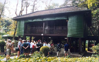 Uncle Ho  house on stilts - where save memory about old father of the nation