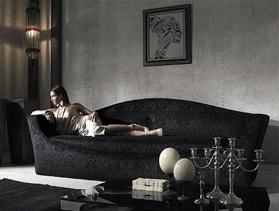 Site Blogspot  Leather Furniture on Love Your Place  Sophisticated Modern Italian Glamour In Black   White