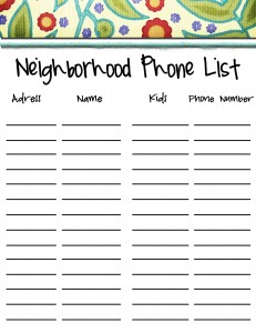 free phone list template
